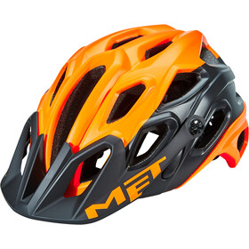 MET Lupo Helm matt orange/black
